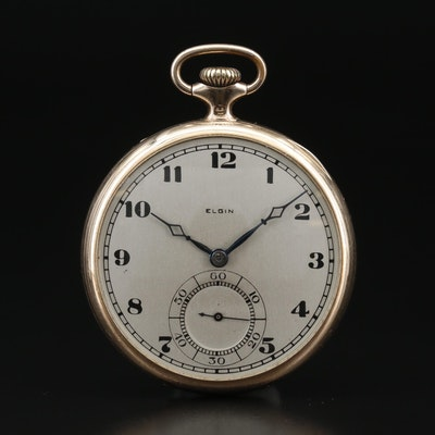 1921 Elgin Gold Filled Open Face Pocket Watch