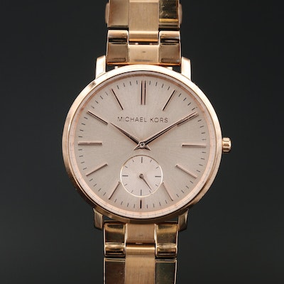 Michael Kors MK-3501 Rose Tone Stainless Steel Quartz Wristwatch