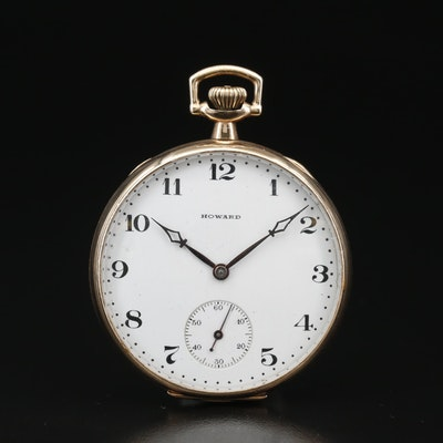 1913 Howard Gold Filled Open Face Pocket Watch