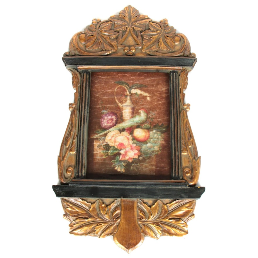 Giltwood Framed Floral Wall Plaque
