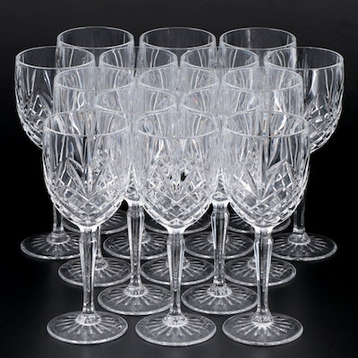 Pressed Crystal Wine Glasses, Mid to Late 20th Century