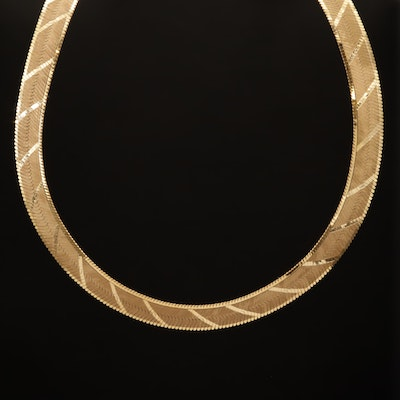14K Herringbone Chain