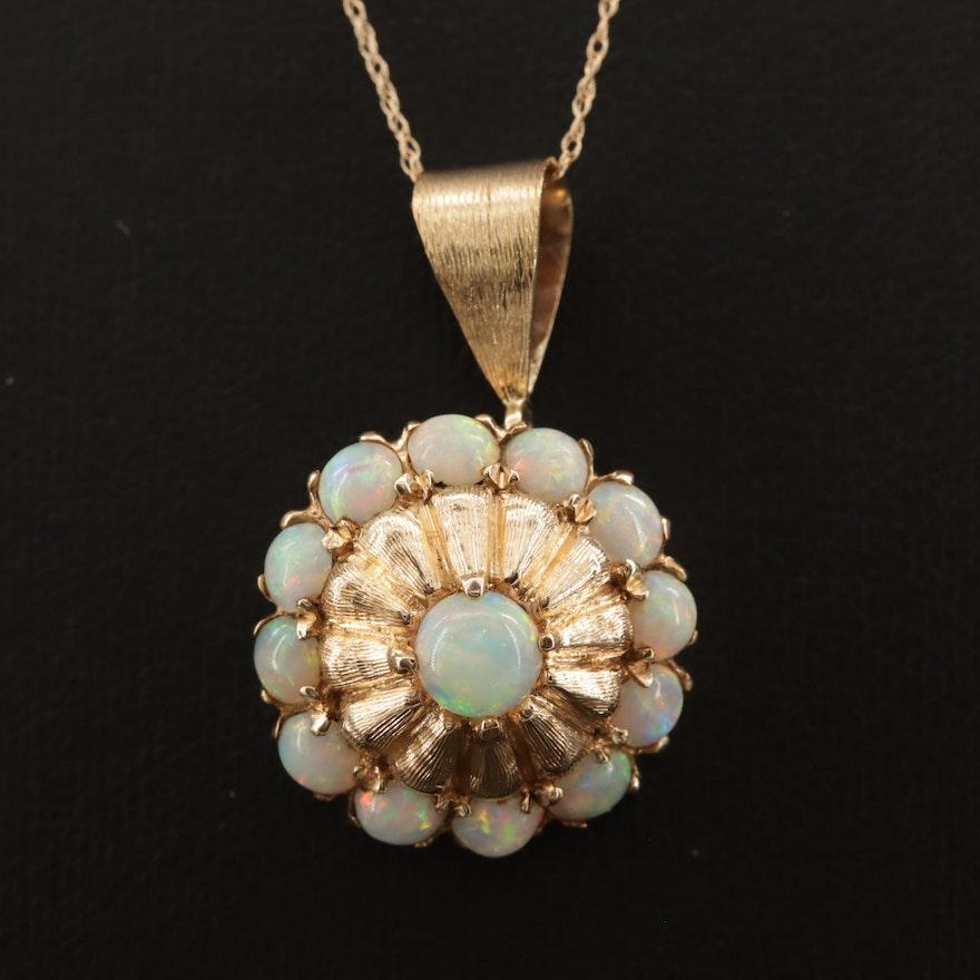 14K Opal Pendant Necklace