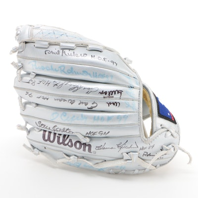 Baseball Hall of Fame Members Signed Wilson A2000 Glove  COA