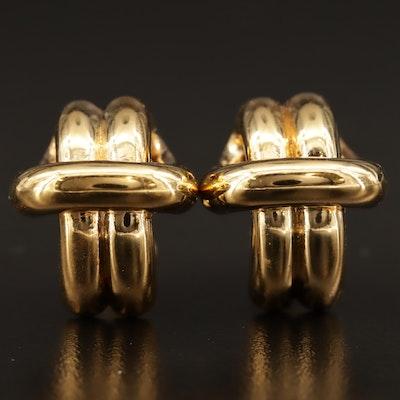 18K Knotted Motif Earrings
