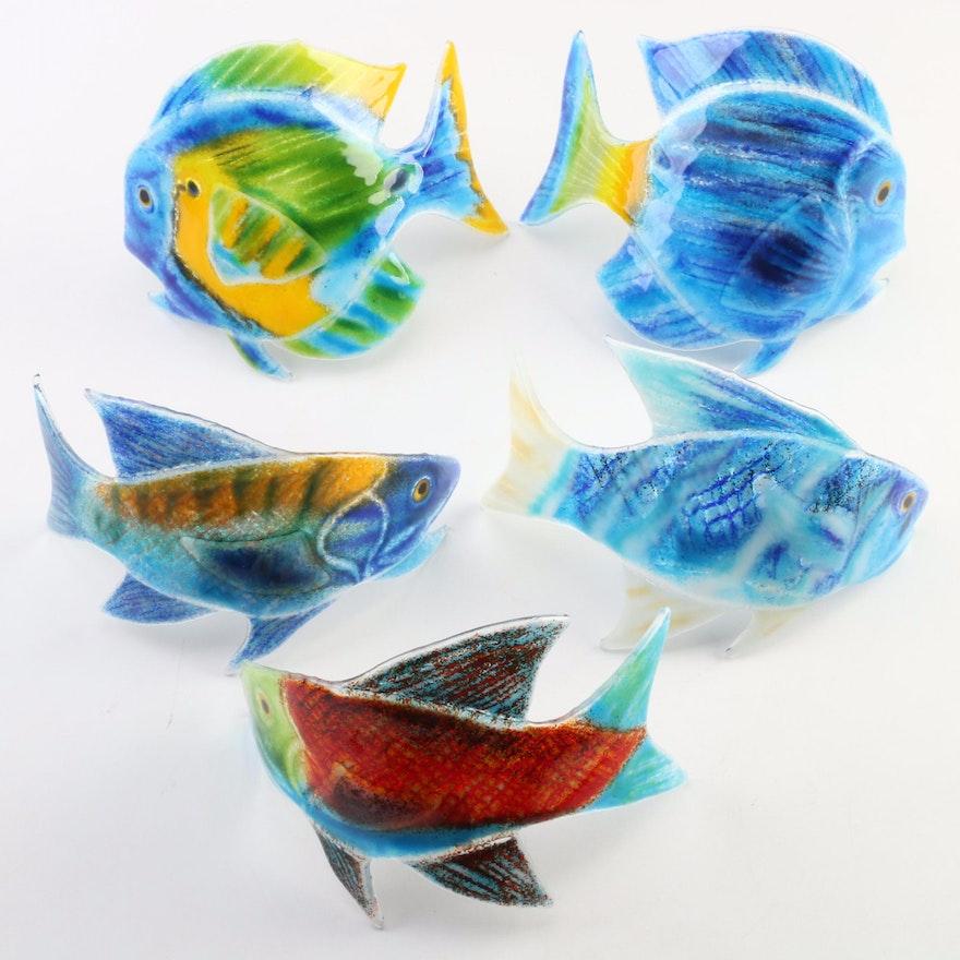 Sharon McNamara Kiln Fused Art Glass Fish