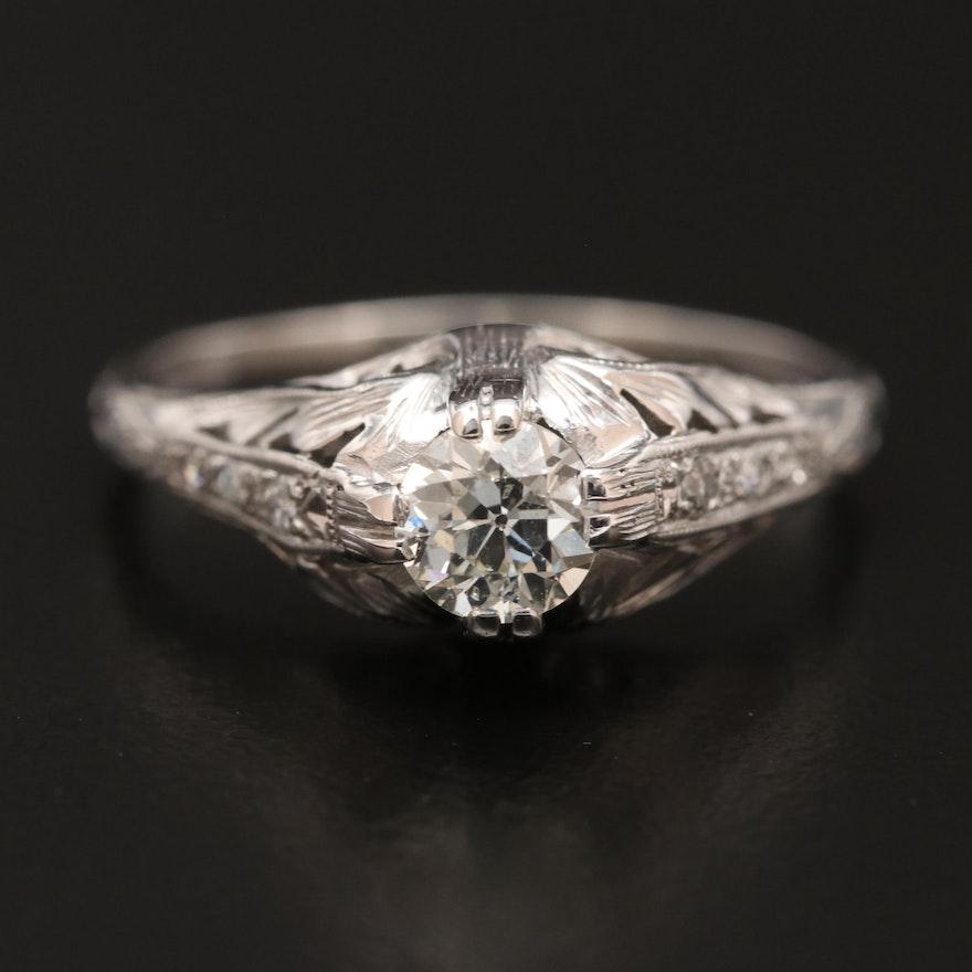 Early Art Deco Platinum Diamond Ring