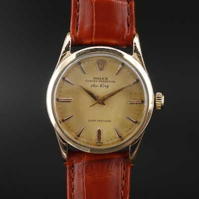 1958 Rolex Air-King Gold Shell Automatic Wristwatch