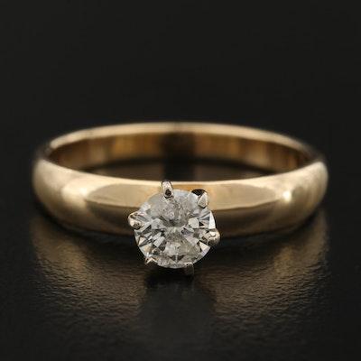 14K 0.47 CT Diamond Solitaire Ring