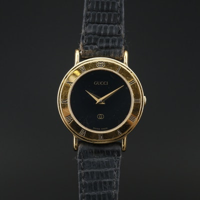 Vintage Gucci 3000L Gold Plated Quartz Wristwatch
