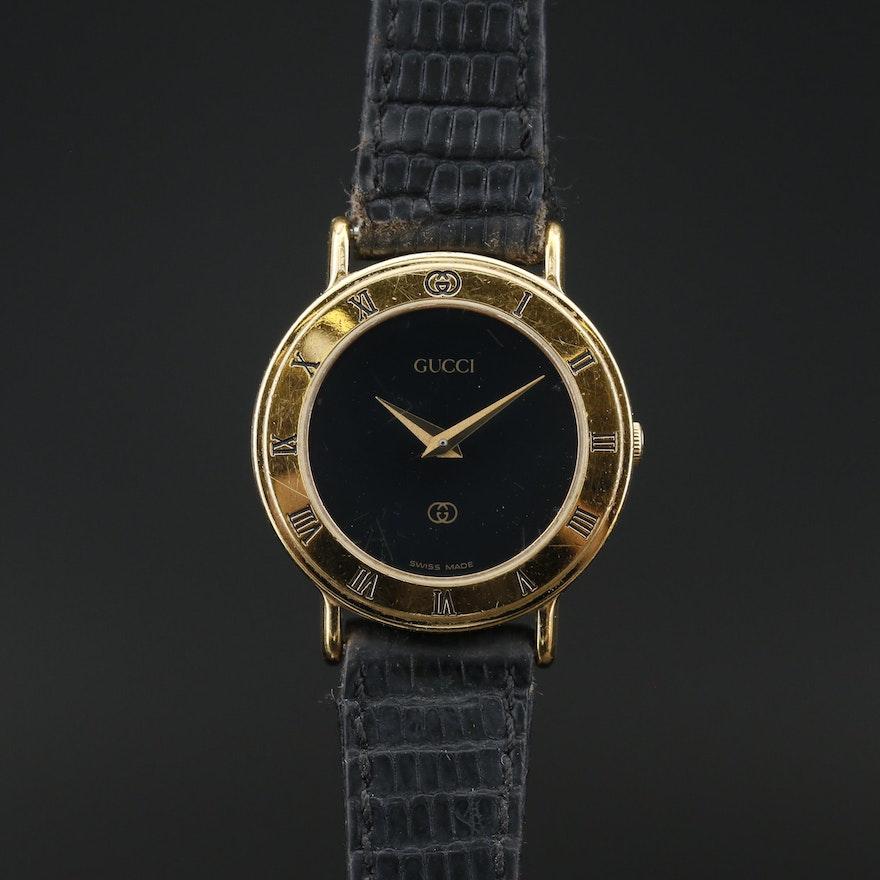Vintage Gucci 3000L Gold Plated Quartz Wristwatch