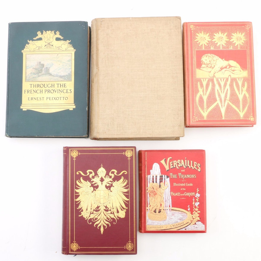 """First Edition """"Through the French Provinces"""" with Additional Travel Books"""
