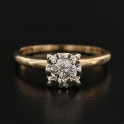 Vintage 14K 0.40 CT Diamond Solitaire Ring