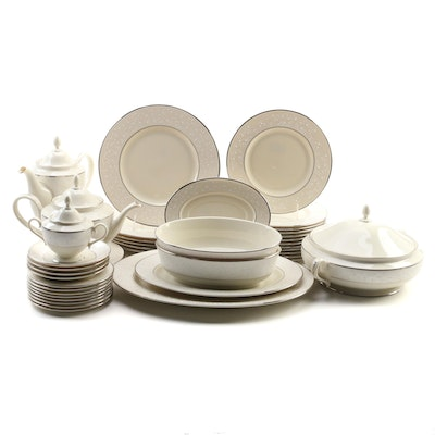 "Lenox Ambassador Collection ""Pearl Innocence"" Bone China Dinnerware"