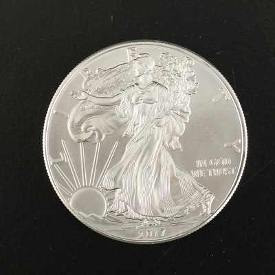 2017 American Silver Eagle Dollar Bullion Coin