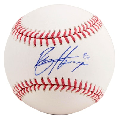 Bryce Harper Signed Major League Baseball  COA