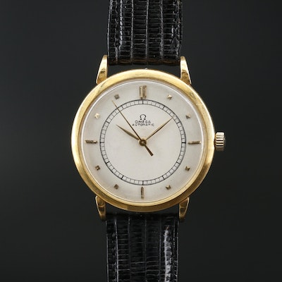 1944 Omega 18K Yellow Gold Bumper Automatic Wristwatch