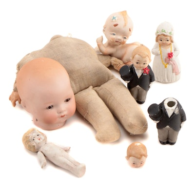 "Armand Marseille ""Dream Baby 341"" and Other Bisque Figurines, Early 20th Century"