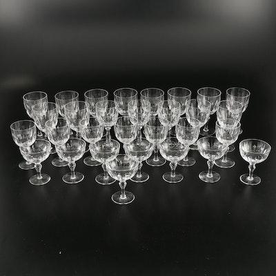 "Schott-Zwiesel ""Gardone"" and Stuart Crystal Stemware, Late 20th Century"