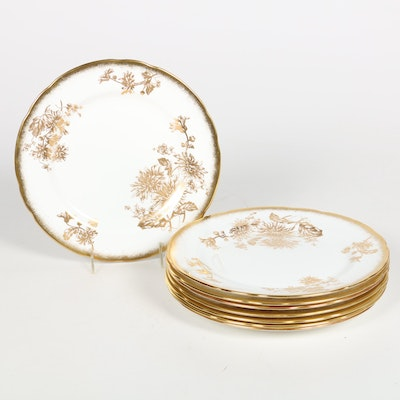 "Hammersley & Co. ""Golden Chrysanthemum"" Bone China Dinner Plates"