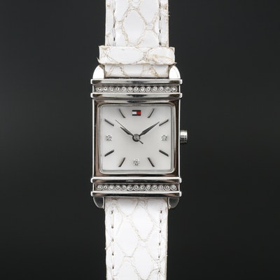 Tommy Hilfinger Stainless Steel Crystal Accented Quartz Wristwatch