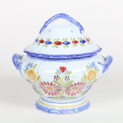 Henriot Quimper Lidded Soup Tureen