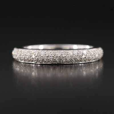 18K Pavé Diamond Band