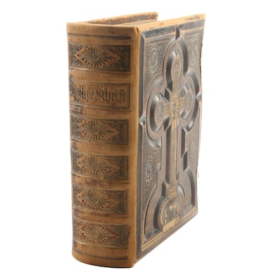 Illustrated German-Language Holy Bible, Mid to Late 19th Century