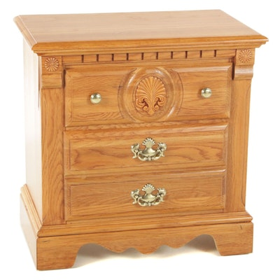 Athens Furniture Oak Nightstand, Late 20th Century