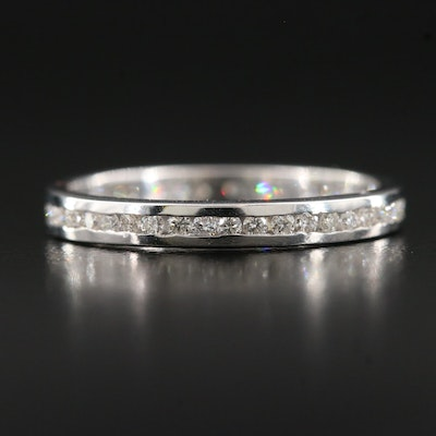 18K Channel Set Diamond Eternity Band