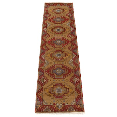 2'8 x 10' Hand-Knotted Indo-Caucasian Carpet Runner