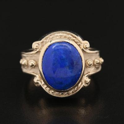 10K Lapis Lazuli Oval Ring