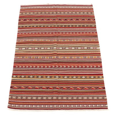 4'5 x 6'9 Handwoven Turkish Kilim Rug