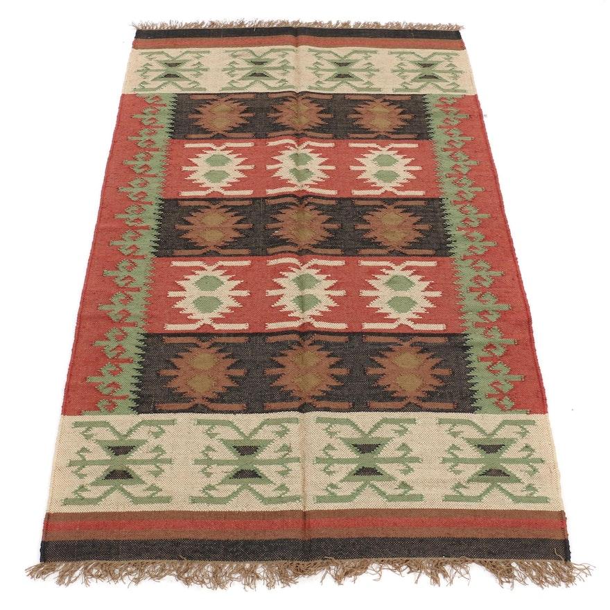5'3 x 8'8 Handwoven Turkish Caucasian Kilim Rug