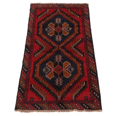 3'5 x 6'4 Hand-Knotted Afghani Area Rug