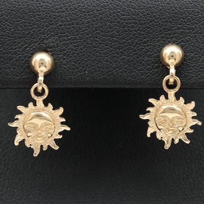 10K Sun in Splendour Dangle Earrings