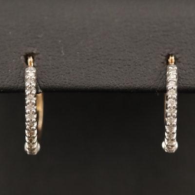 10 Diamond Hoop Earrings