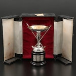 Sterling Silver Golf Trophy with Presentation Case, Early to Mid-20th Century