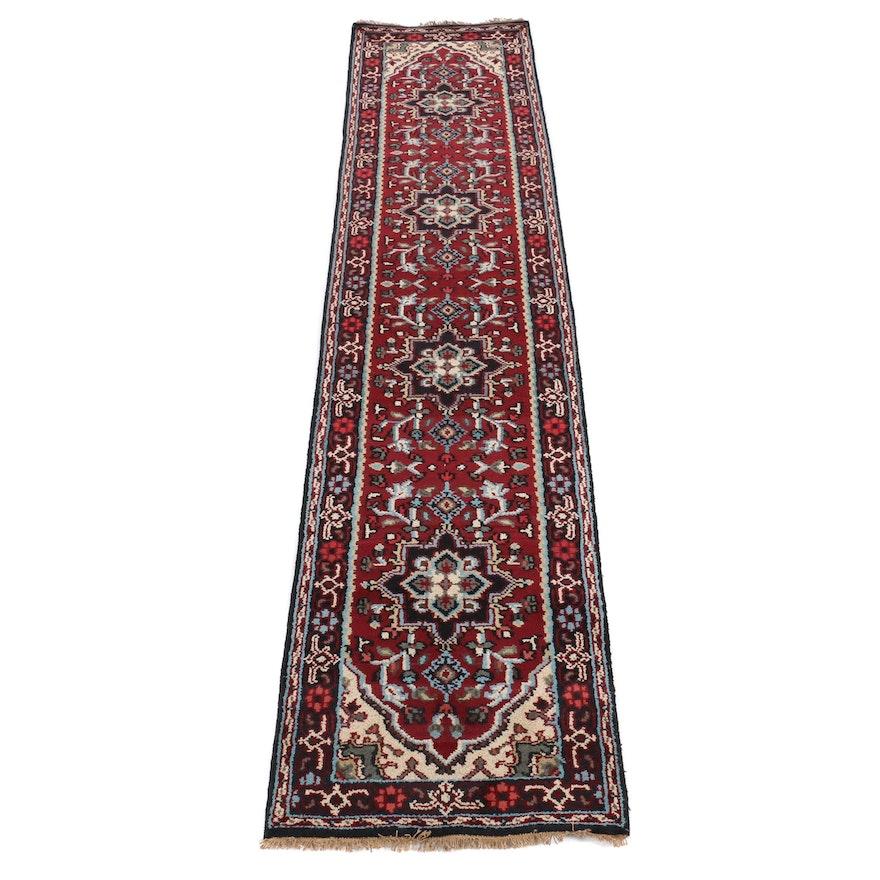 """2'6 x 12"""" Hand-Knotted Indo-Persian Heriz Serapi Carpet Runner"""