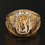 """Sterling Silver PGA Tour """"Partner's Club"""" Ring"""