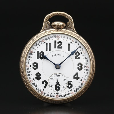 1926 Illinois Sangamo Special 14K Gold Filled Railroad Grade Pocket Watch