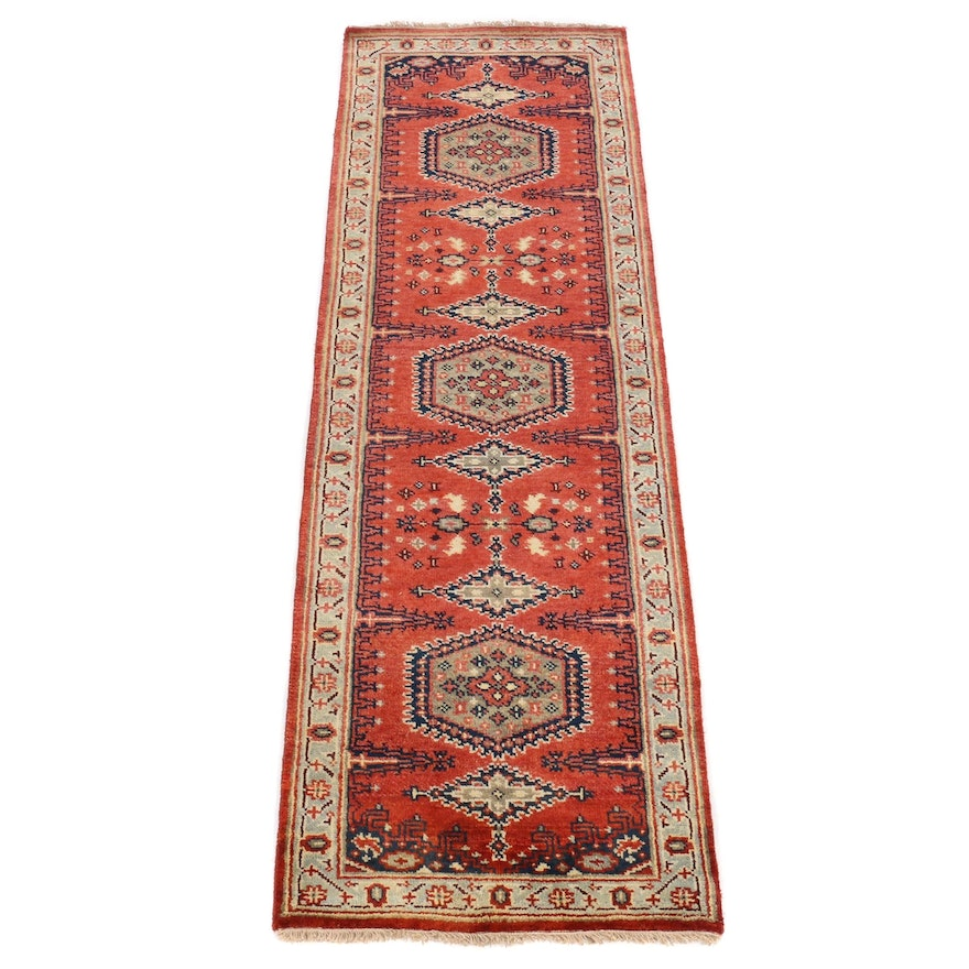 2'6 x 8'2 Hand-Knotted Indo-Persian Carpet Runner