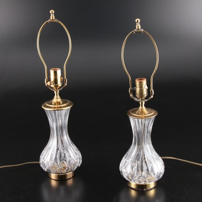 "Pair of Waterford Crystal ""Lismore"" Lamps"