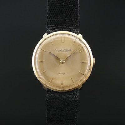 "International Watch Co. ""Schaffhausen"" 18K Stem Wind Wristwatch, Circa 1960"