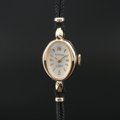 Vintage Rodania Gold Tone Stem Wind Wristwatch