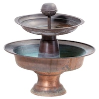 Copper Garden Fountain with Electric Pump