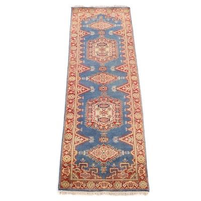 2'5 x 7'11  Hand-Knotted Indo-Caucasian Kazak Carpet Runner