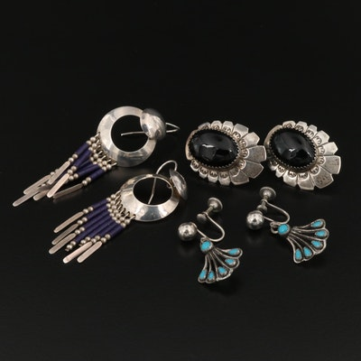 Southwestern Style Sterling Gemstone Earring Assortment