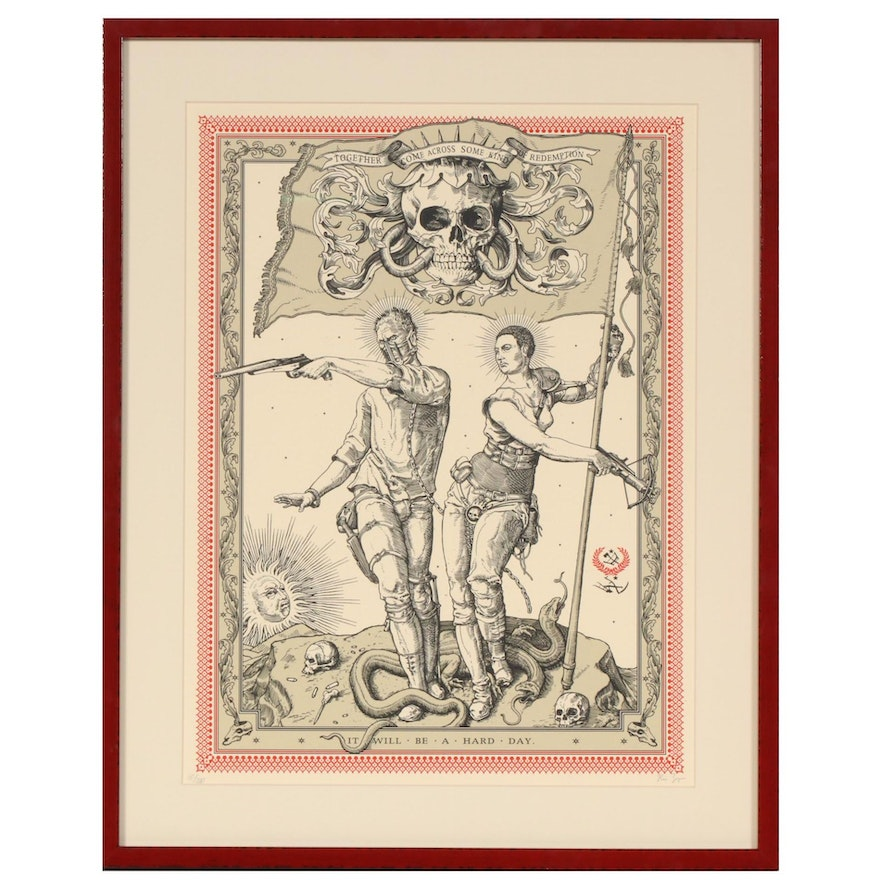 """Ravi Zupa """"Mad Max: Fury Road"""" Serigraph Poster """"It Will Be a Hard Day"""", 2010s"""