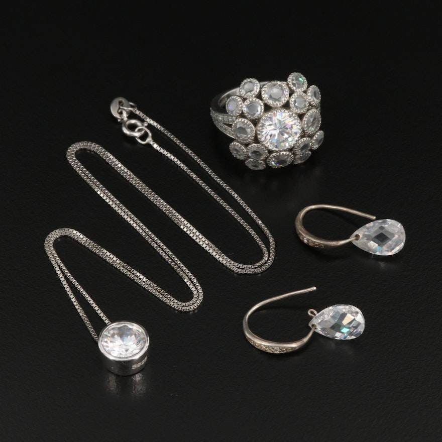 Sterling Silver and Cubic Zirconia Jewelry Selection